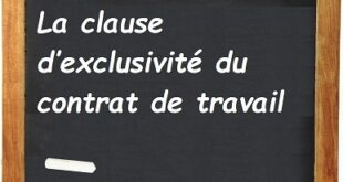 La clause d'exclusivité